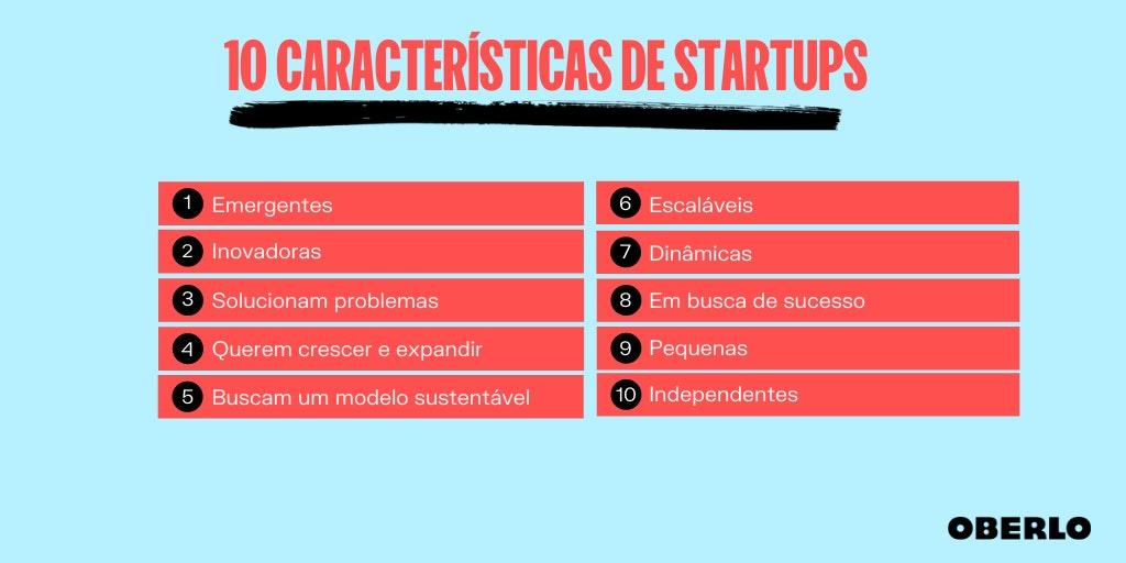 10 características de startups