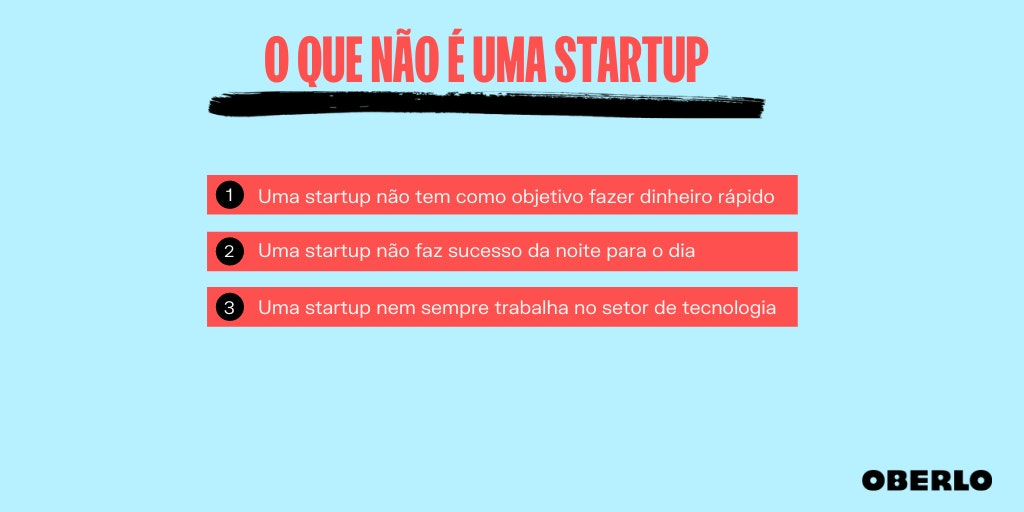 Uma startup nem sempre trabalha no setor de tecnologia