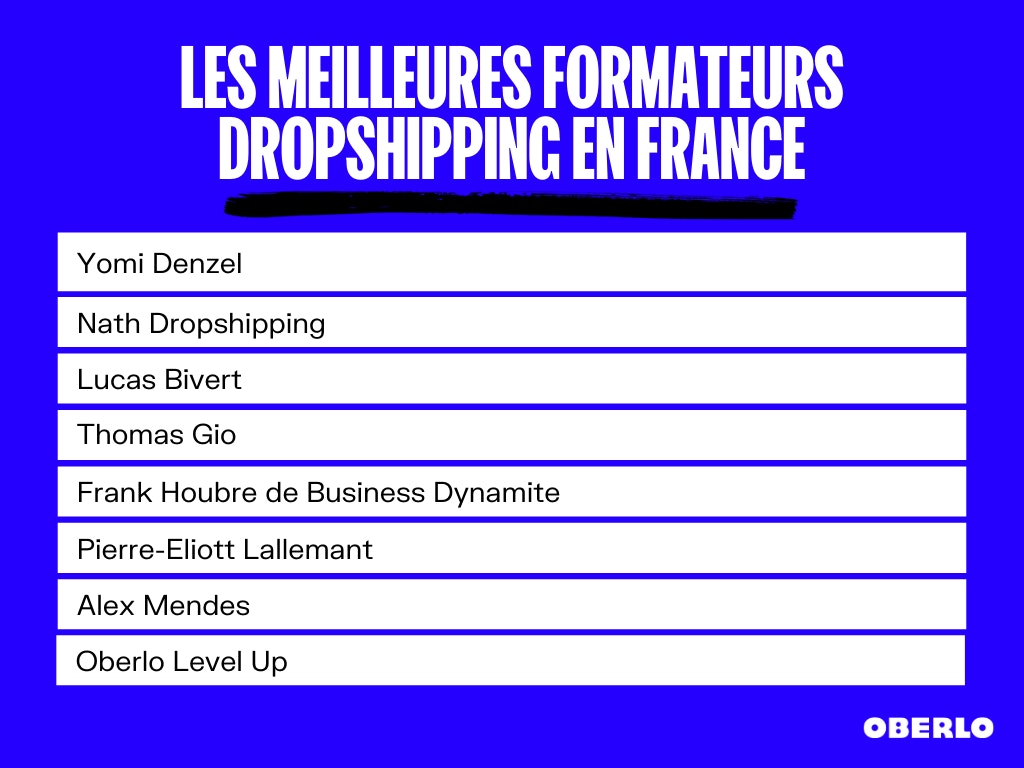 meilleures formations dropshipping
