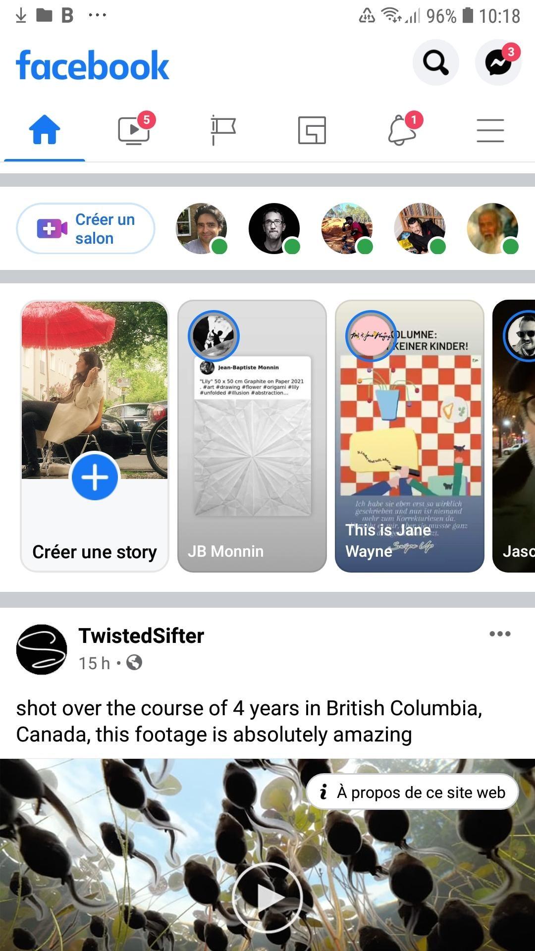 Créer une story Facebook