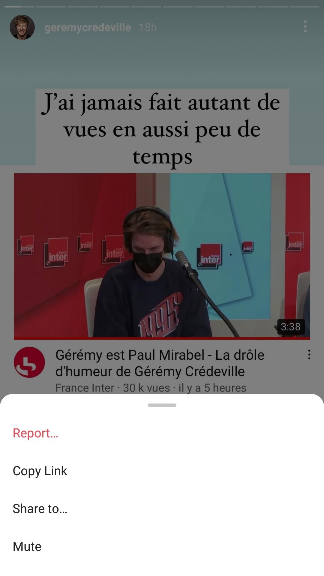 Reposter une story