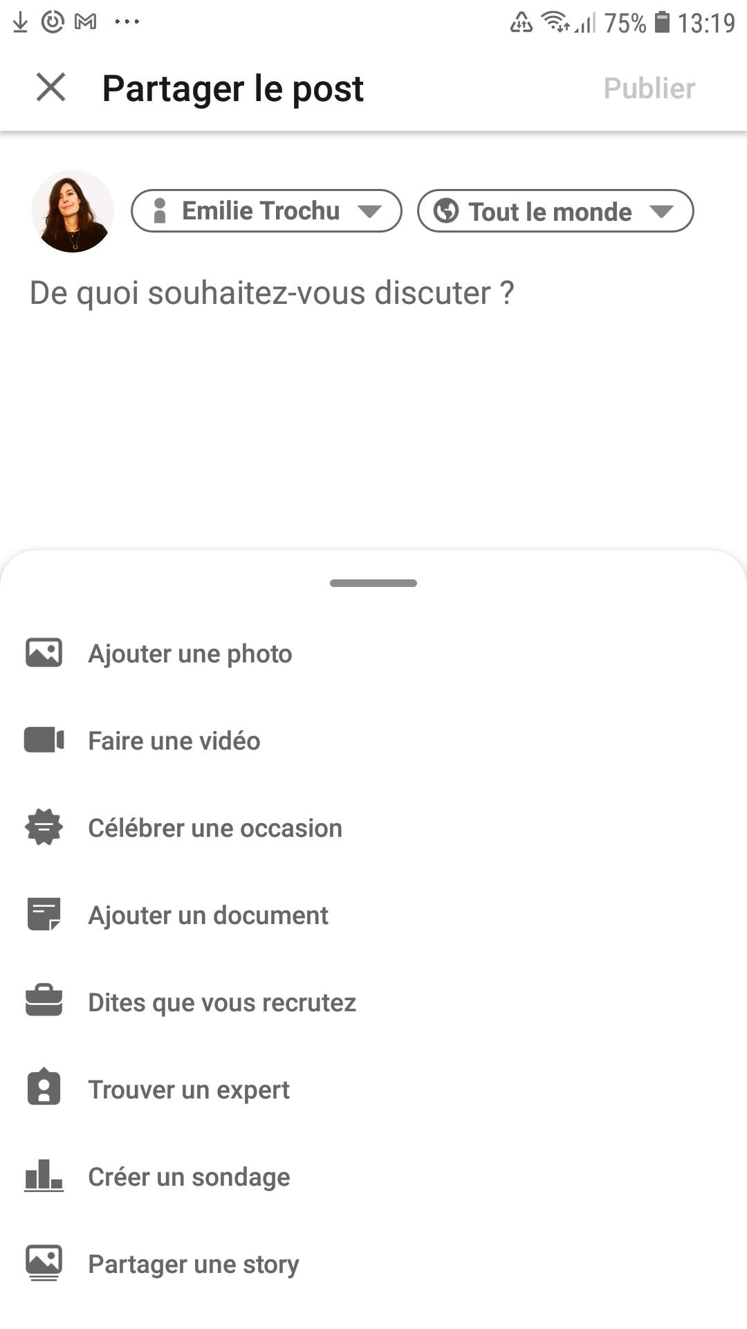 Partager une story Facebook