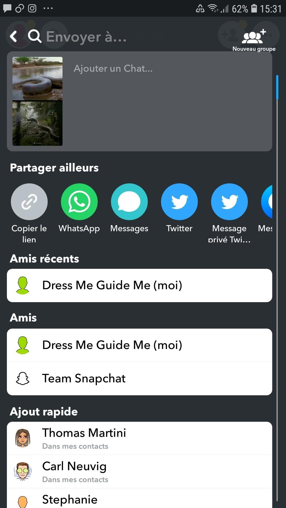 Story Snapchat