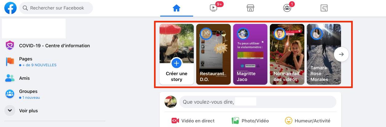 Comment partager une story Facebook