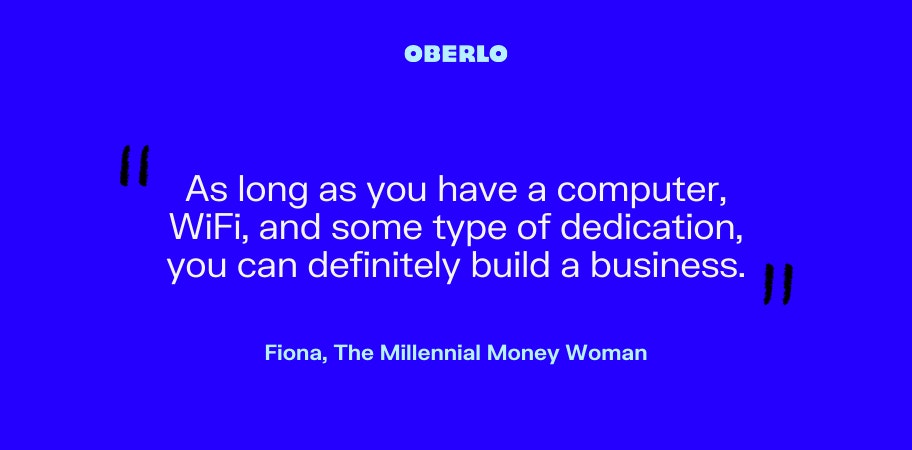 Fiona, The Millennial Money Woman talks about building a business