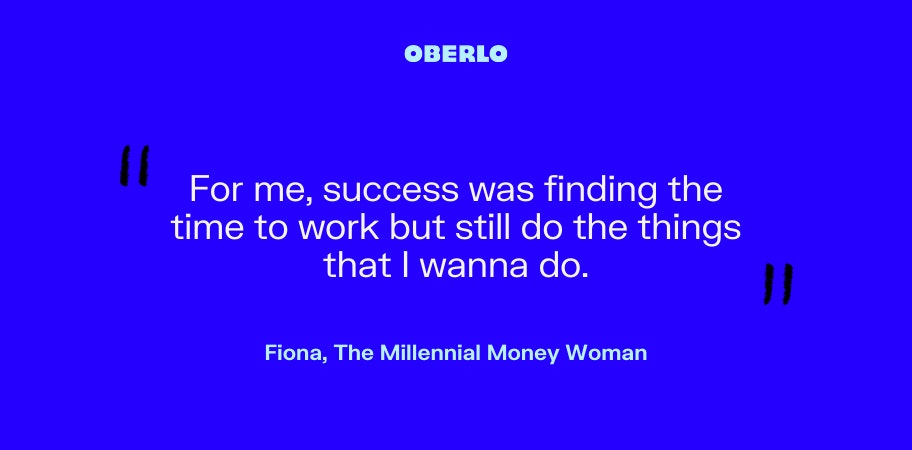 Fiona, The Millennial Money Woman talks about her definition of success