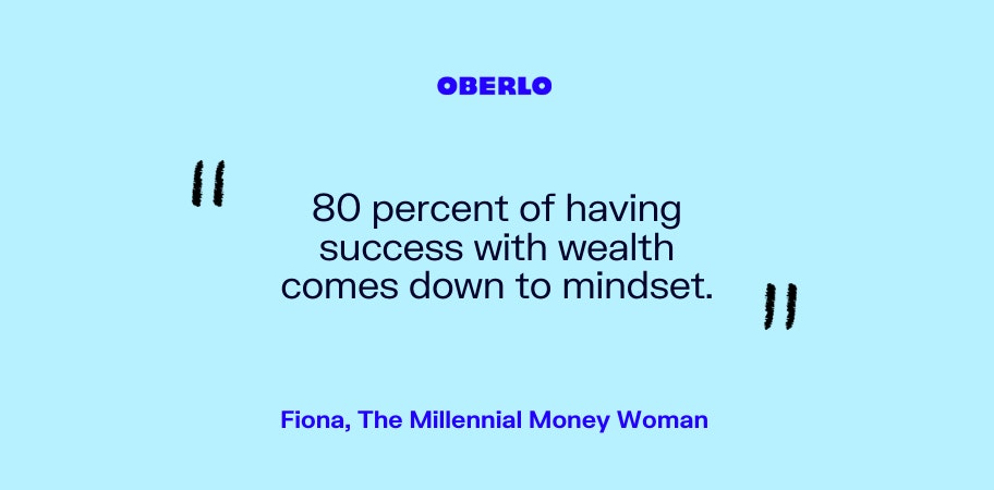 Fiona, The Millennial Money Woman talks about the money mindset
