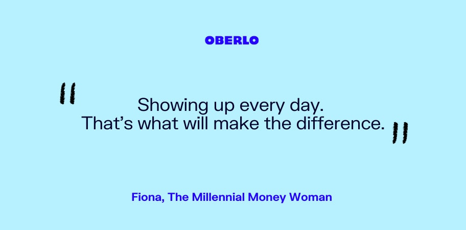 Fiona, The Millennial Money Woman talks about showing up
