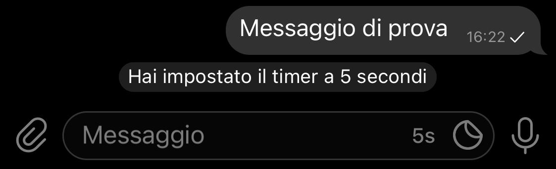messaggio chat segreta telegram