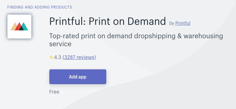 printful dropshipping