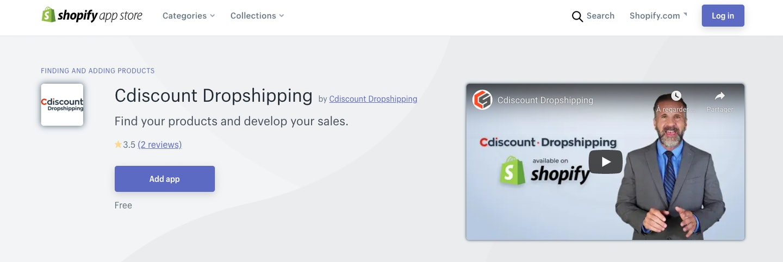 Shopify app e-commerce