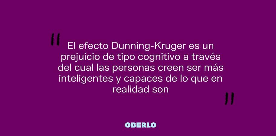 efecto dunning kruger definicion