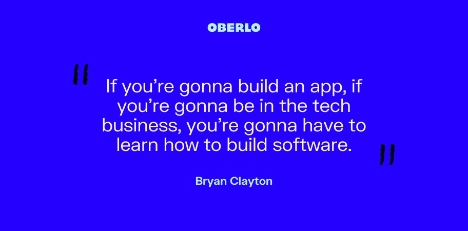 Bryan Clayton on being in the tech business