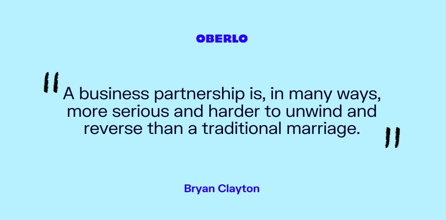 Bryan Clayton on business partnerships