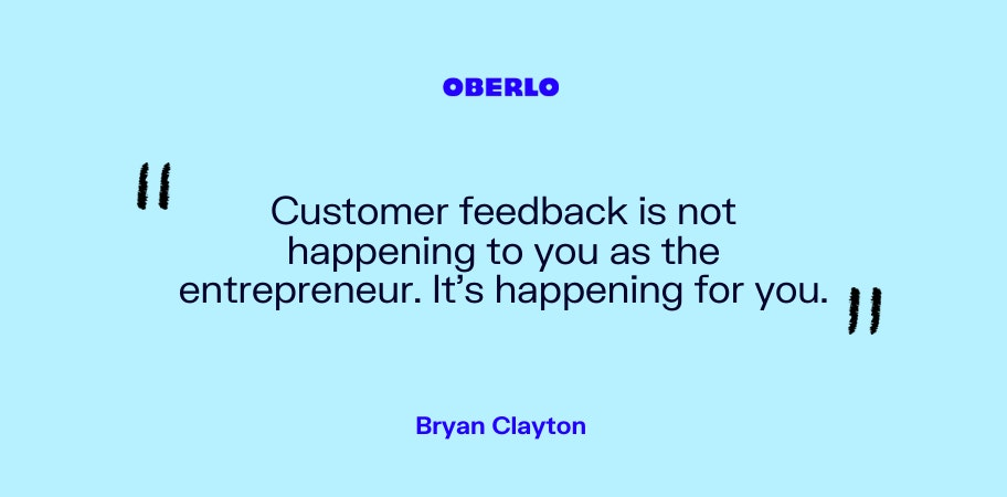 Bryan Clayton on customer feedback