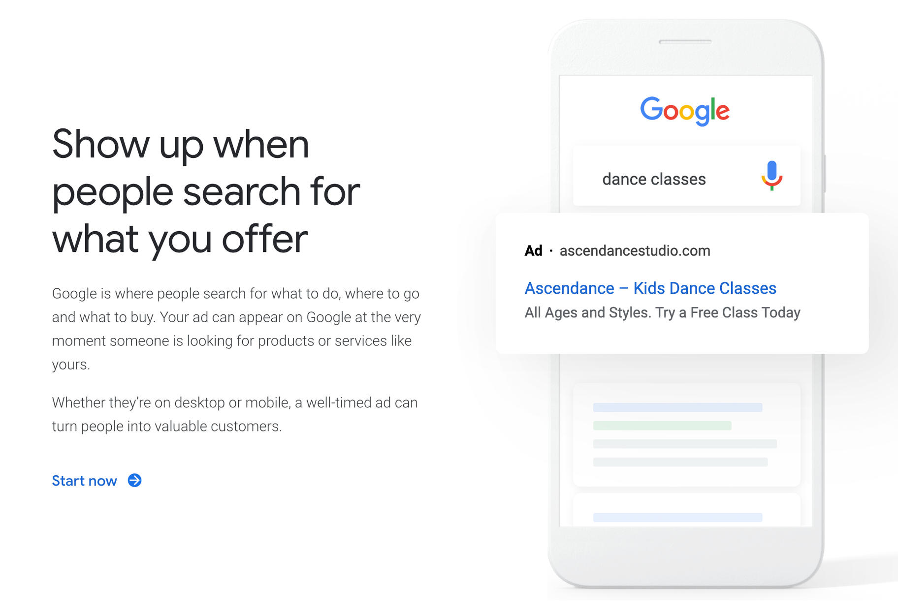 google ads search intent