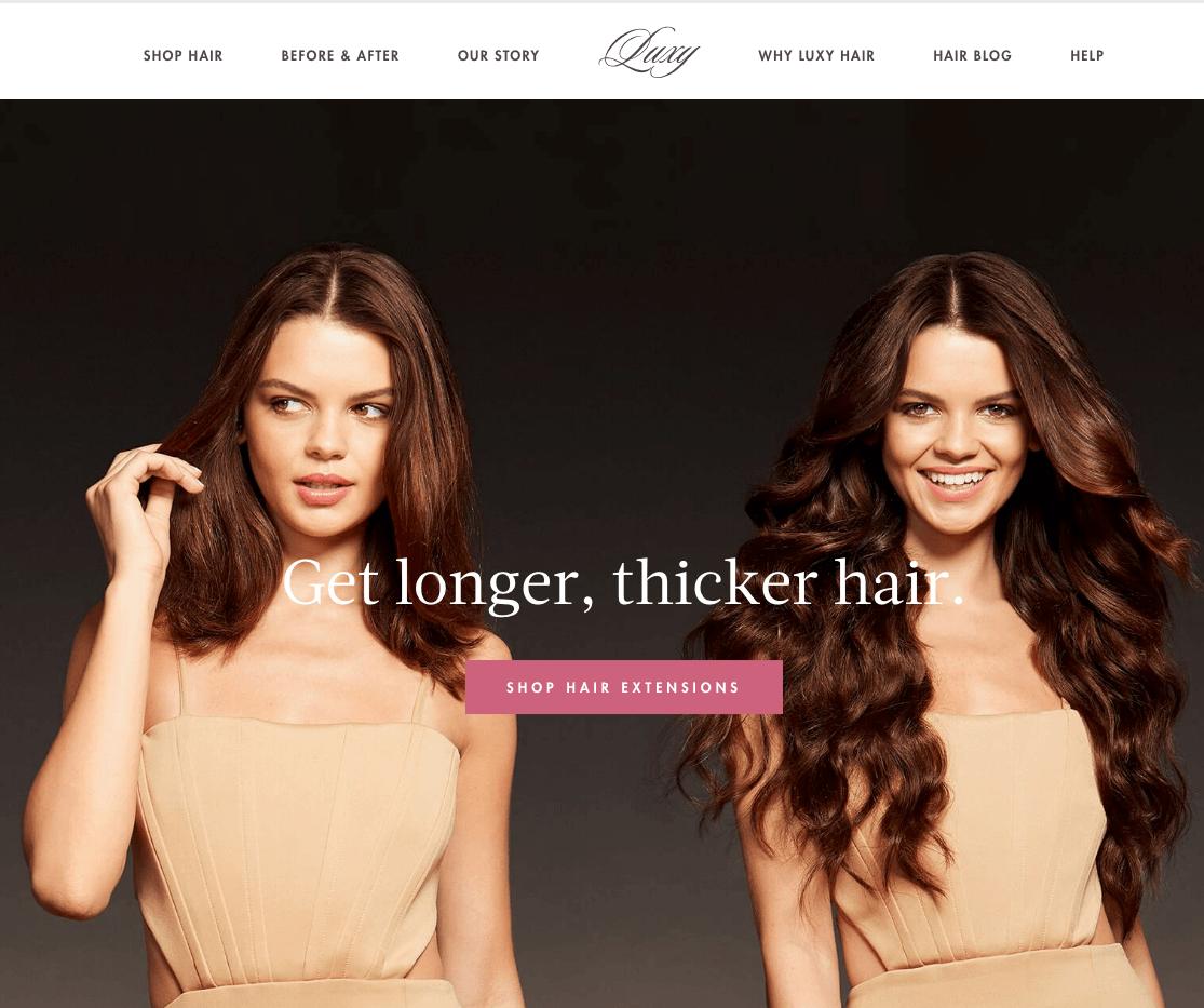 luxy hair ecommerce