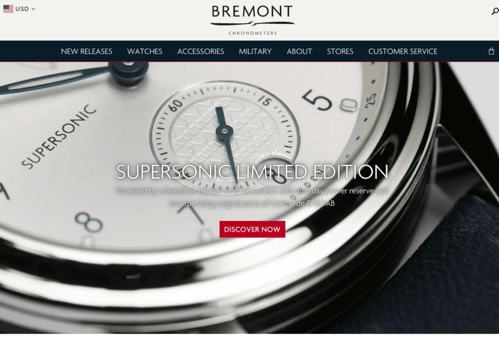 bremont shopify shop