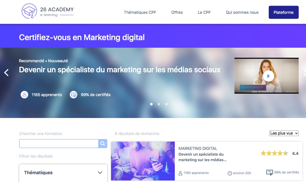 Bootcamp formation marketing digital