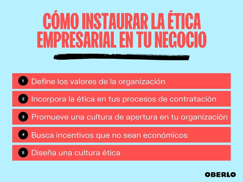etica en los negocios - como promoverla