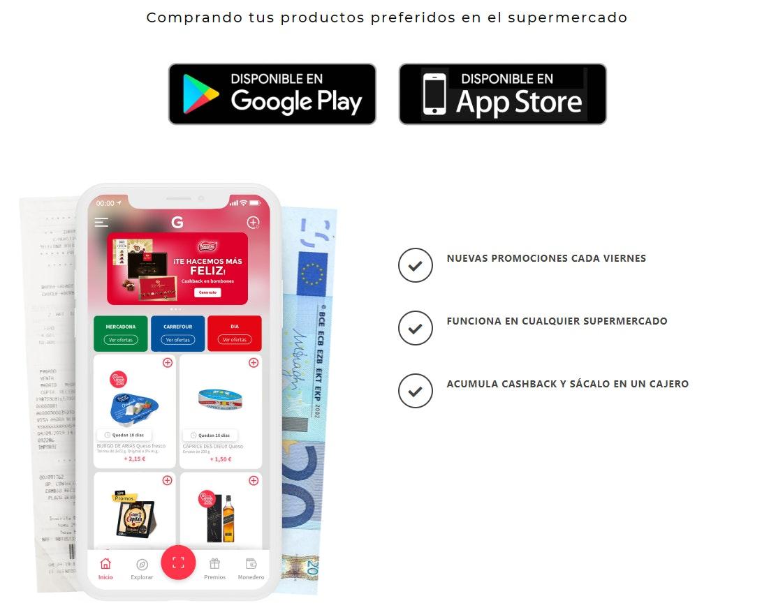 Aplicaciones para ganar dinero en el supermercado