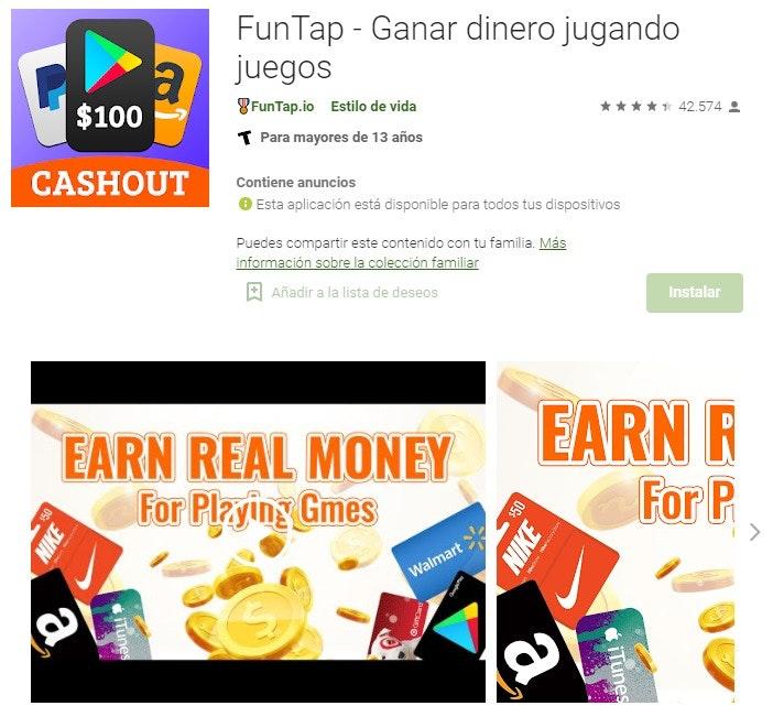 Aplicaciones para ganar dinero jugando