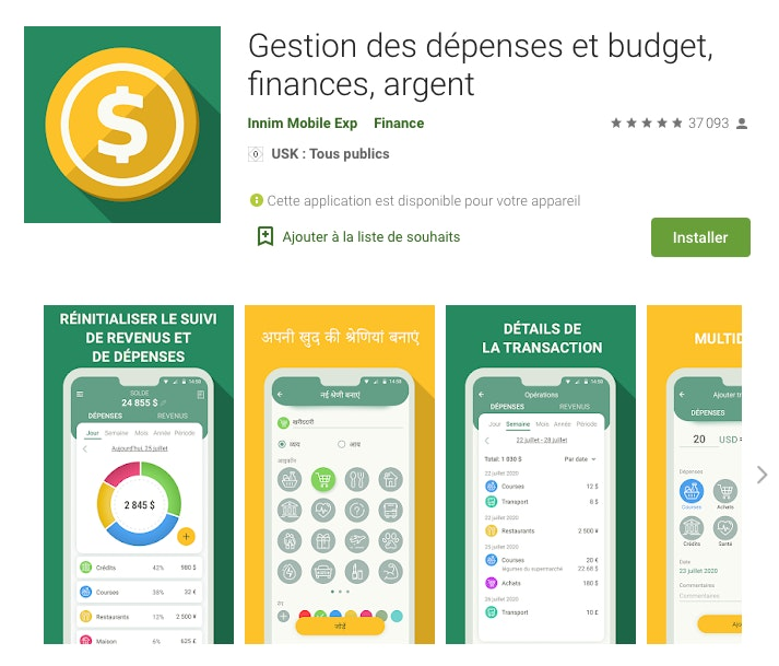 Applications gestion de budget