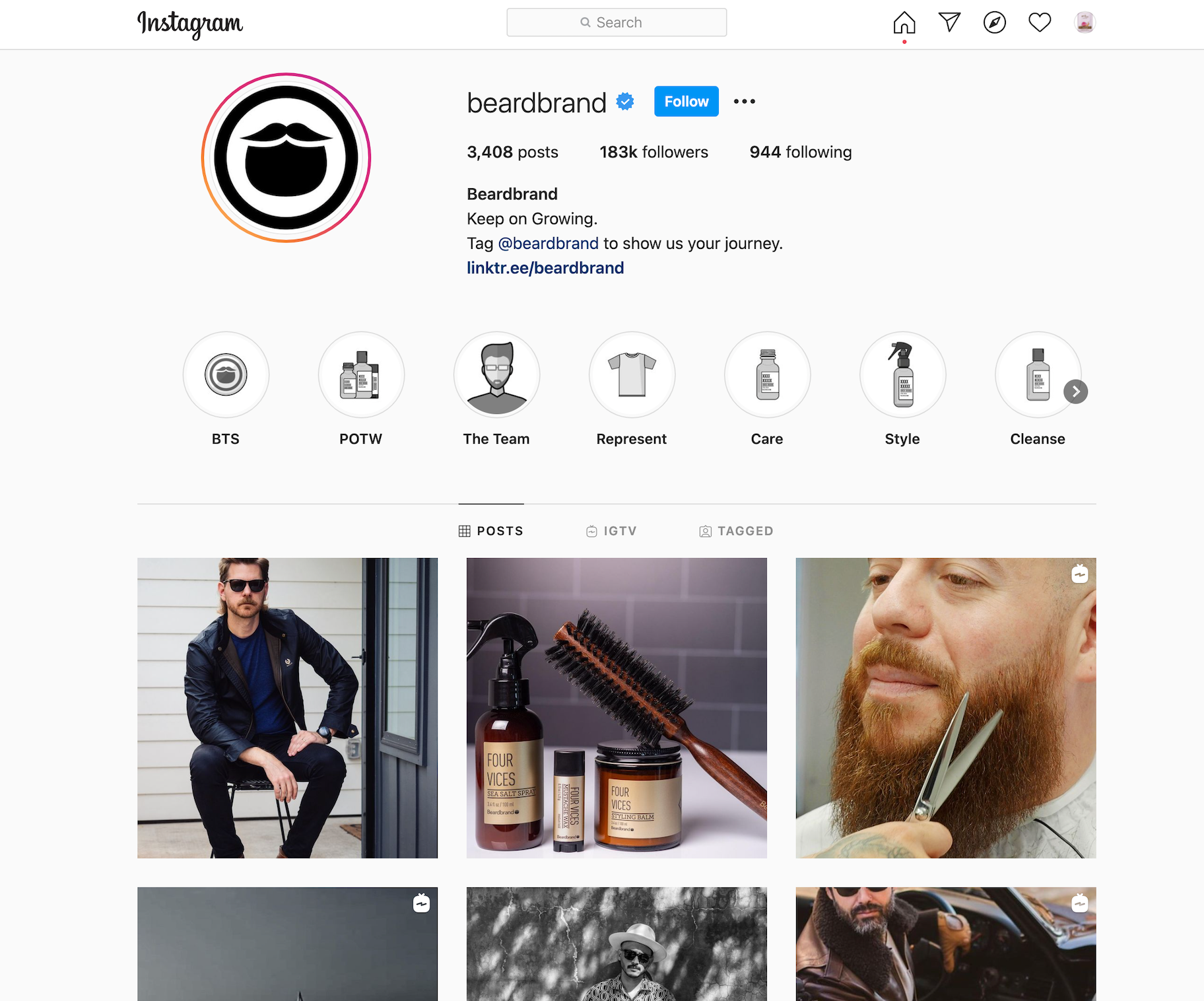 beard brand instagram