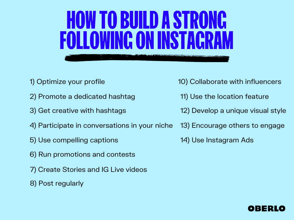 how to build a strong following on Instagram