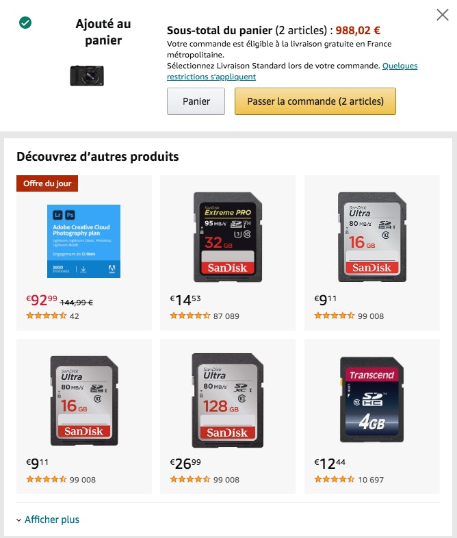 techniques upselling amazon
