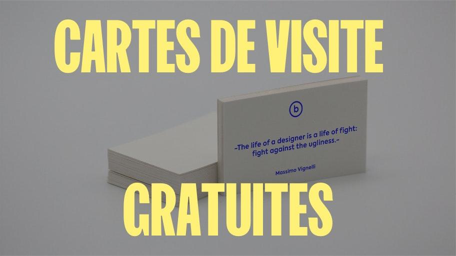 cartes de visite gratuites