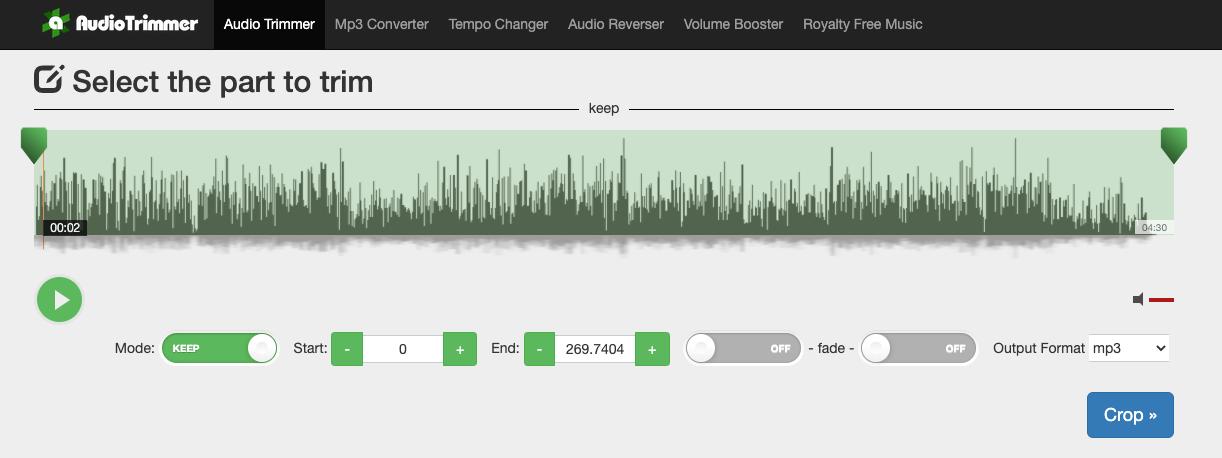 Audio Trimmer software