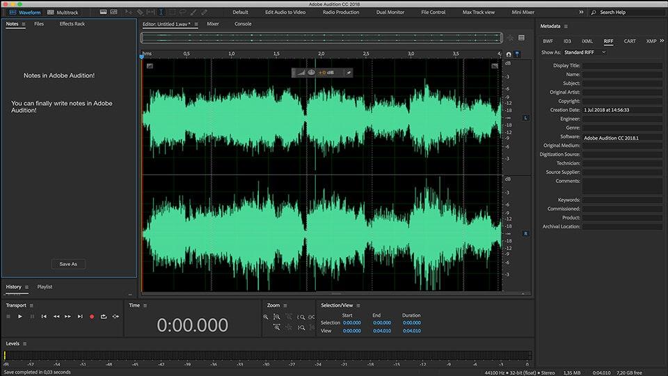 editing audio con adobe audition