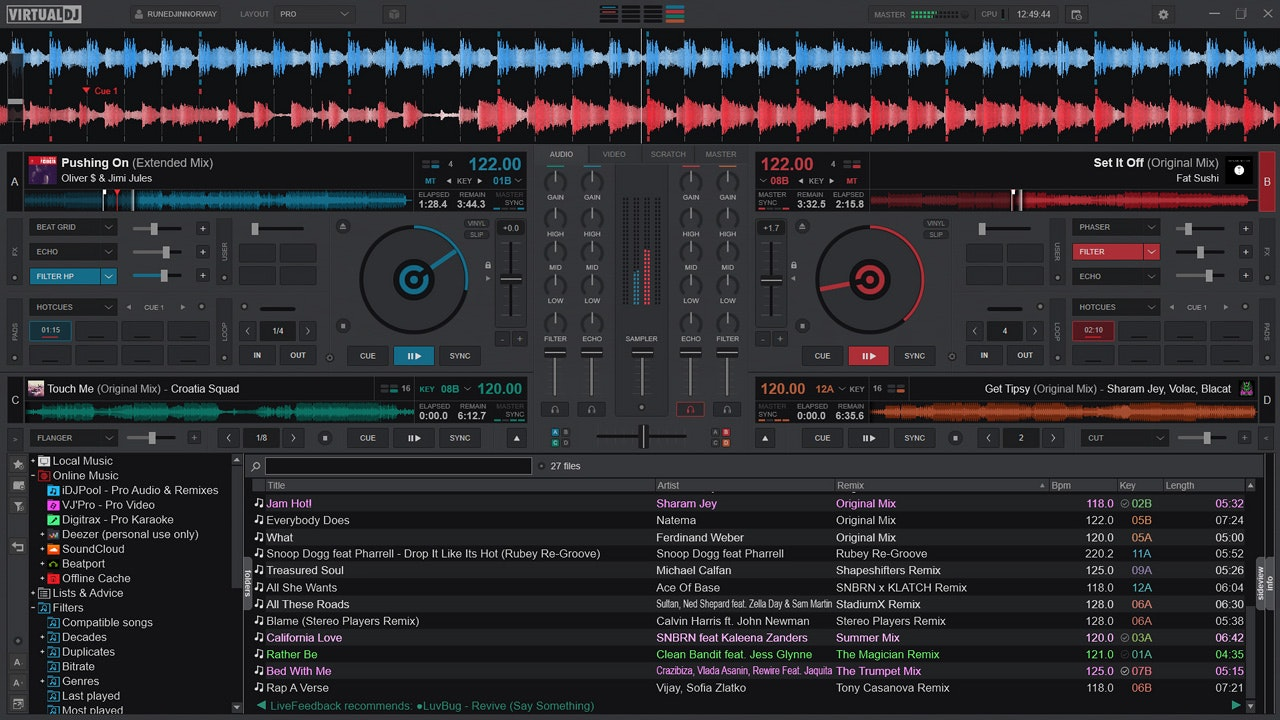 editing audio con virtual dj