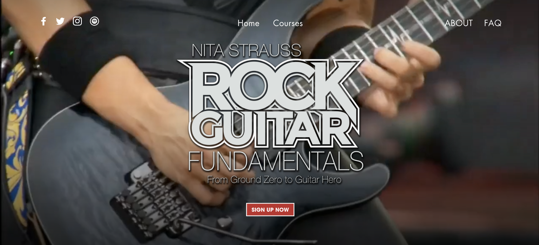 Examples of Digital Products: Nita Strauss – Rock Guitar Fundamentals
