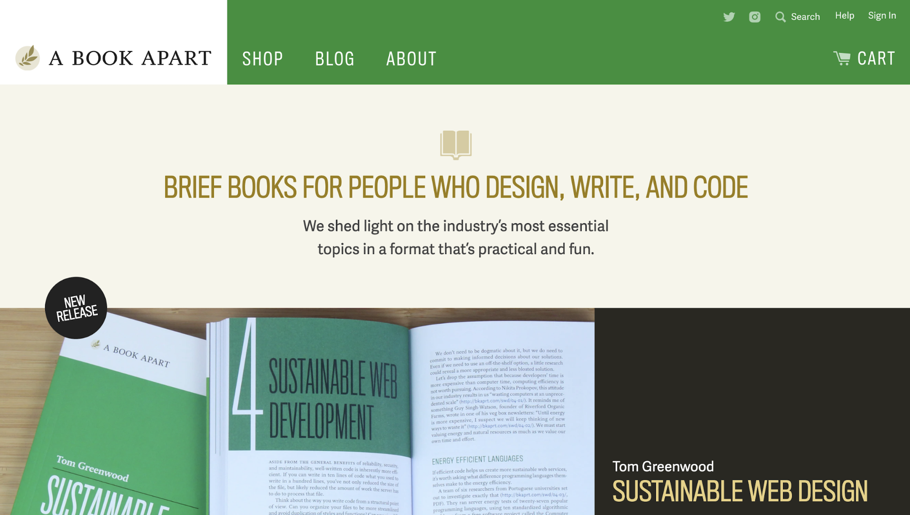 Digital Product Examples: A Book Apart