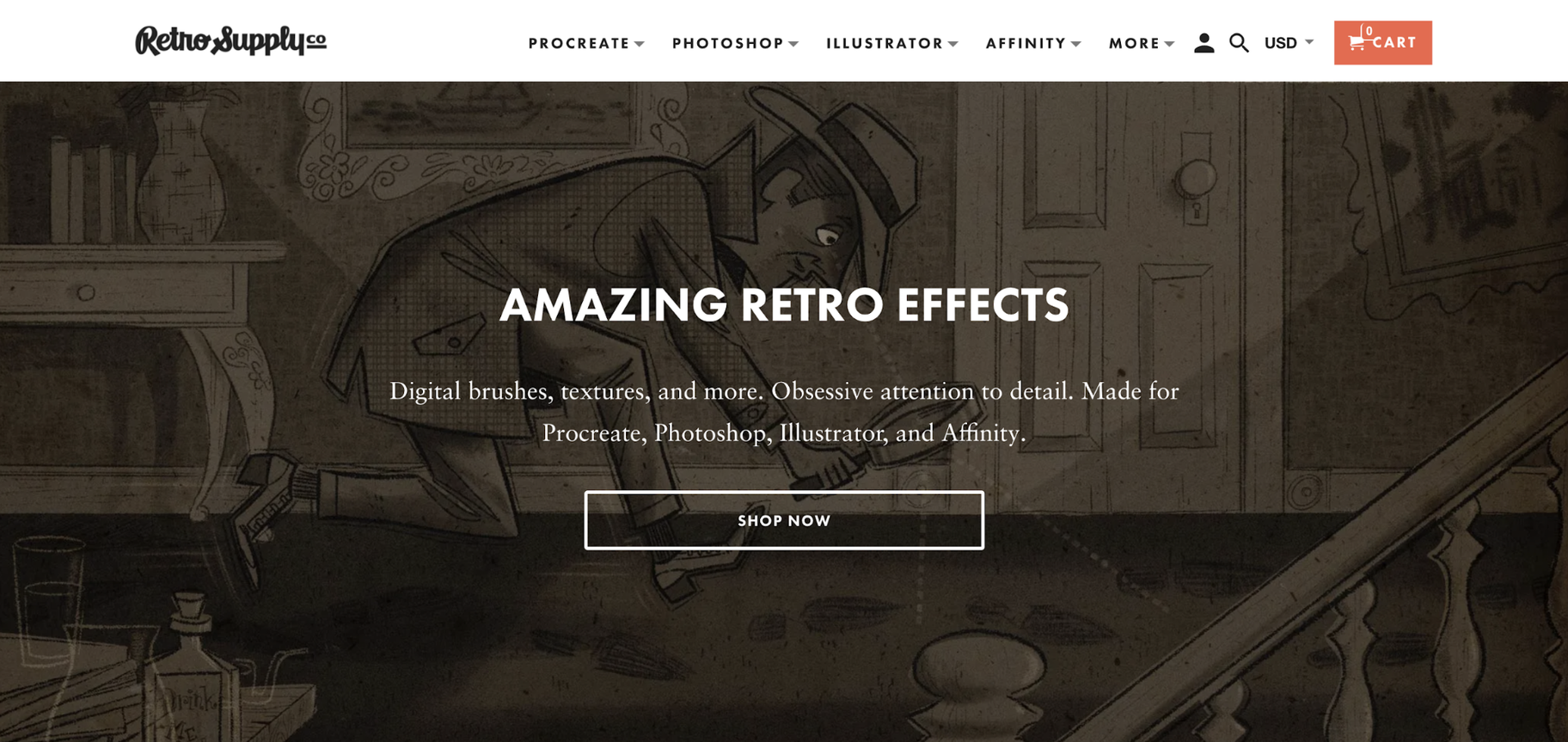 Digital Product Examples: RetroSupply Co.