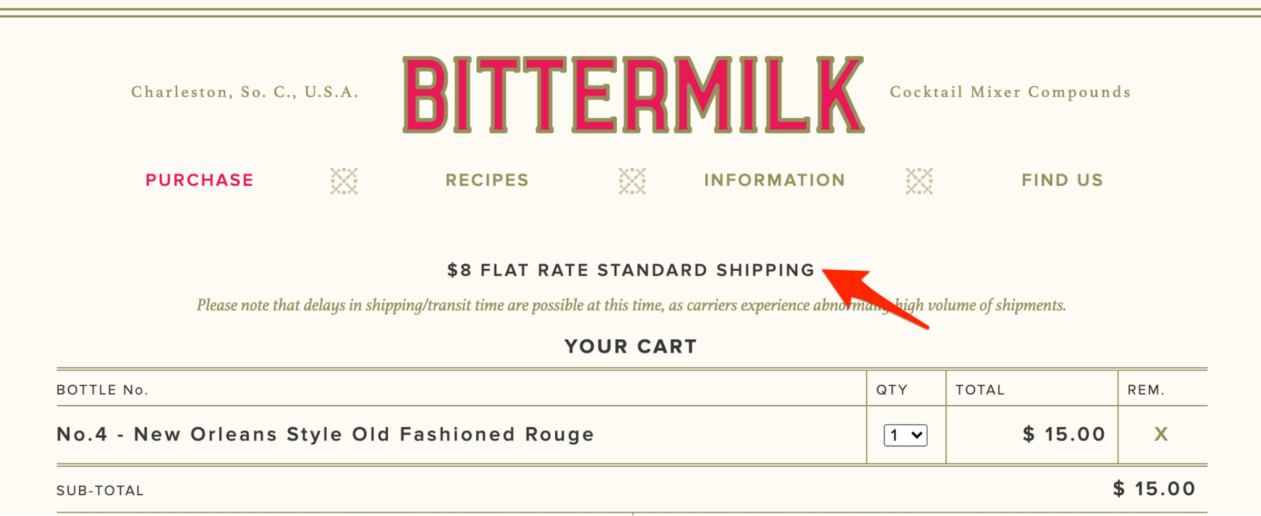 Ecommerce Shipping Rates: Bittermilk