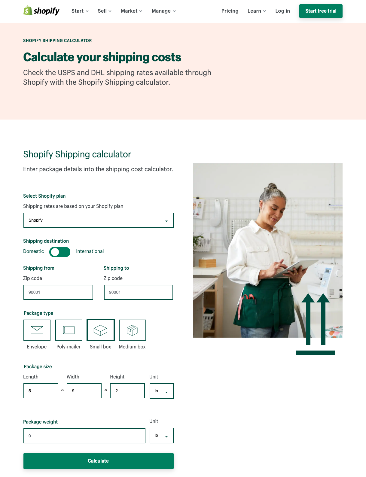How to Calculate Shipping Charges for Ecommerce: Shopify's Shipping Calculator