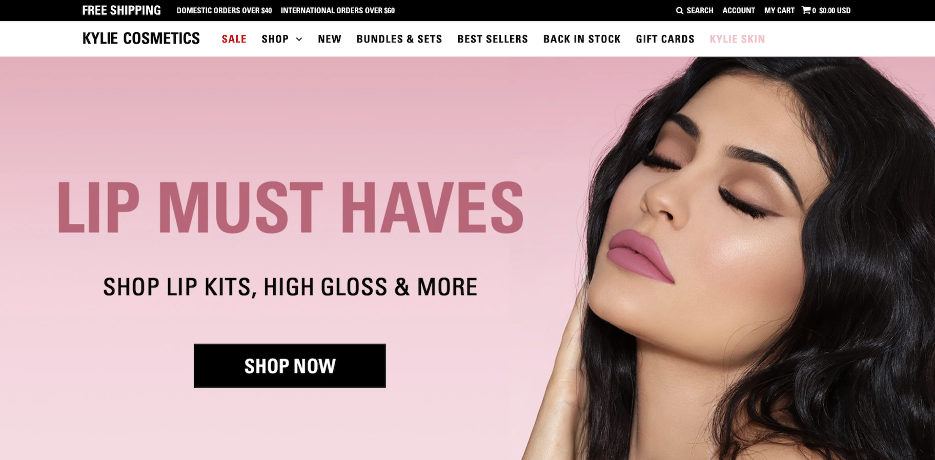 Ecommerce Shipping Best Practices: Kylie Cosmetics