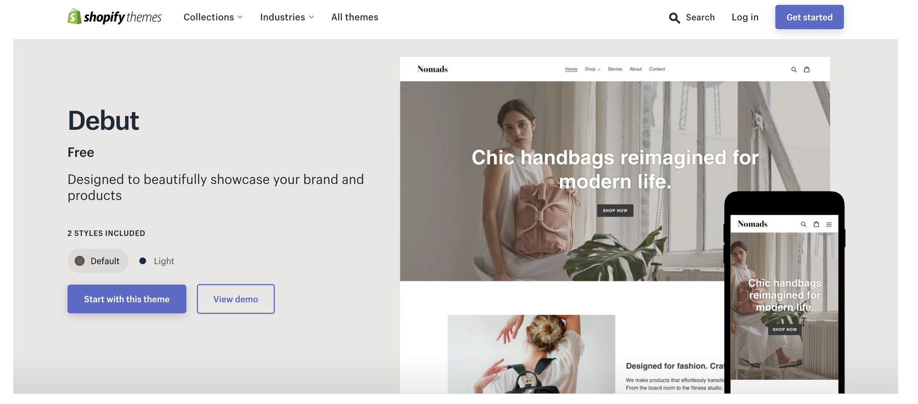 ücretsiz shopify temaları 2021