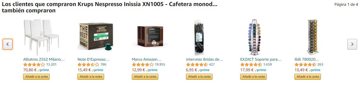 Ejemplos de venta cruzada en tienda online