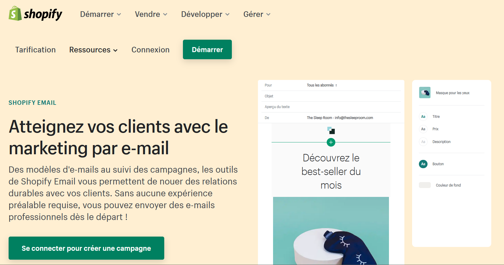 outil emailing shopify email