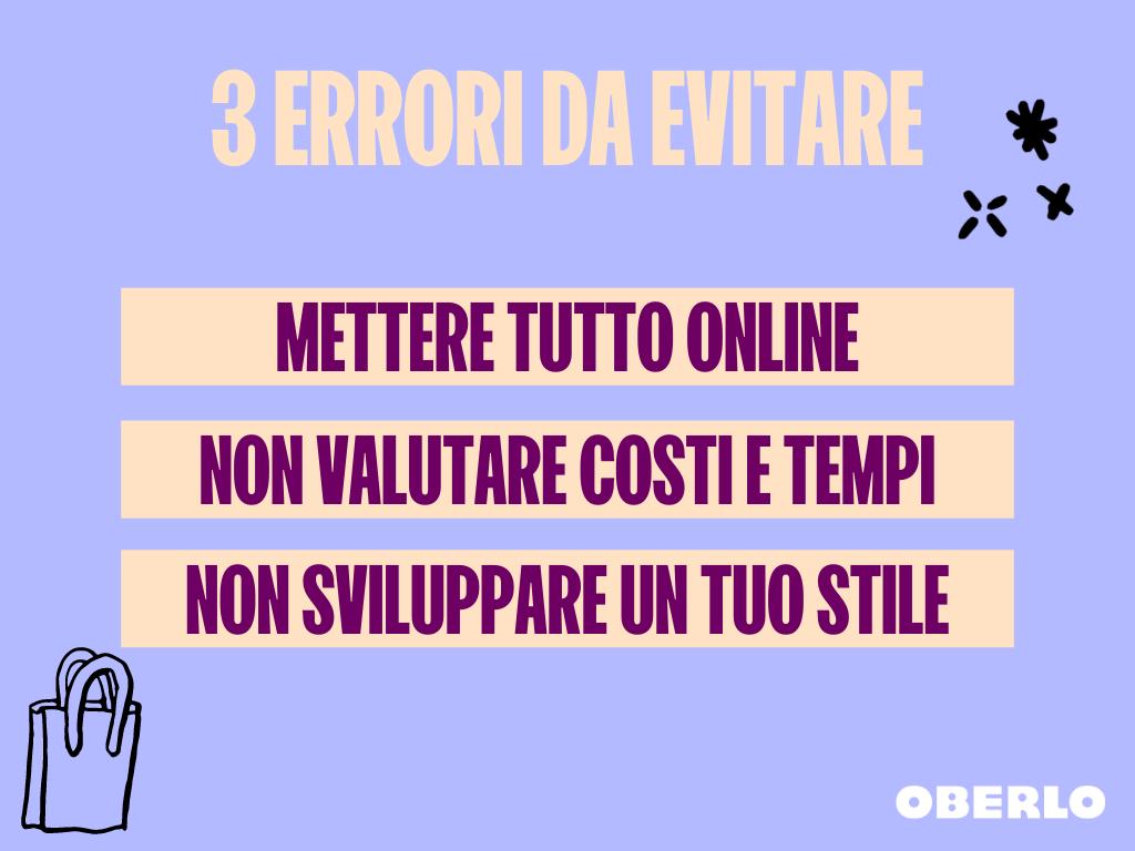 vendere artigianato online - errori da evitare