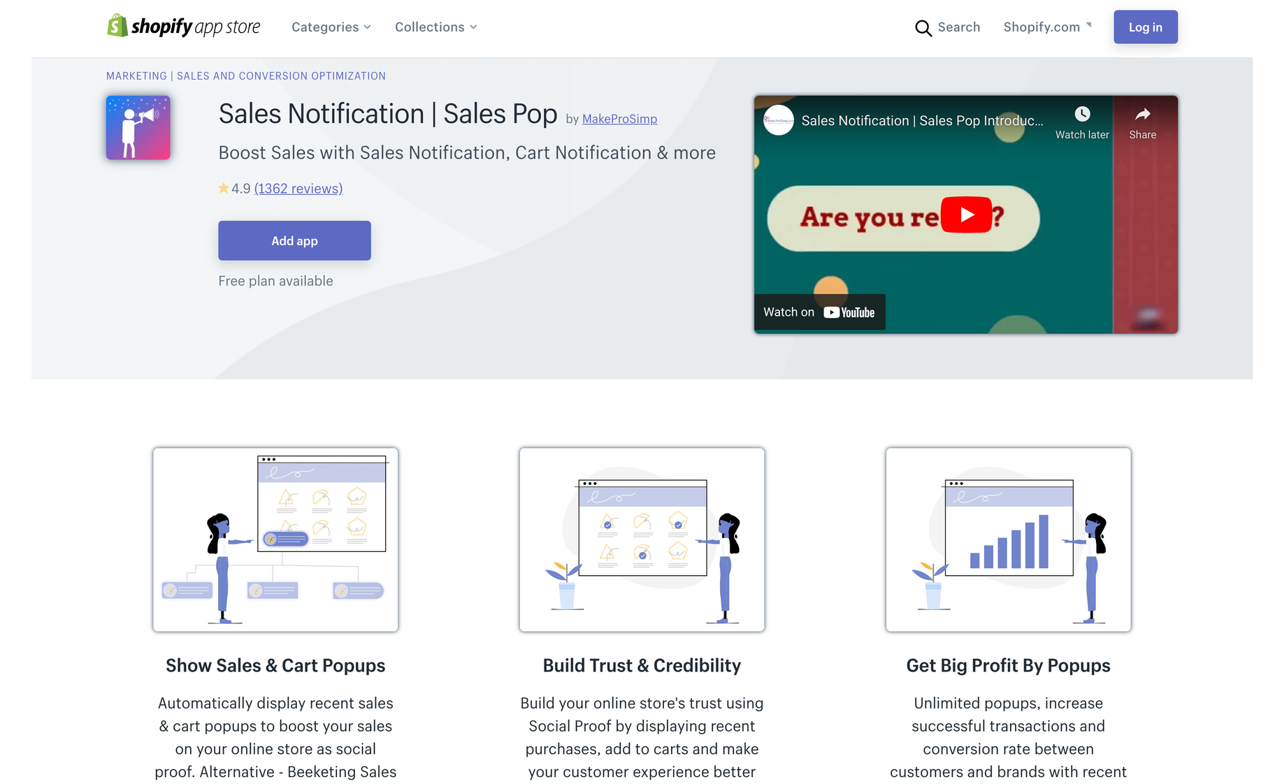 sales notificaiton shopify