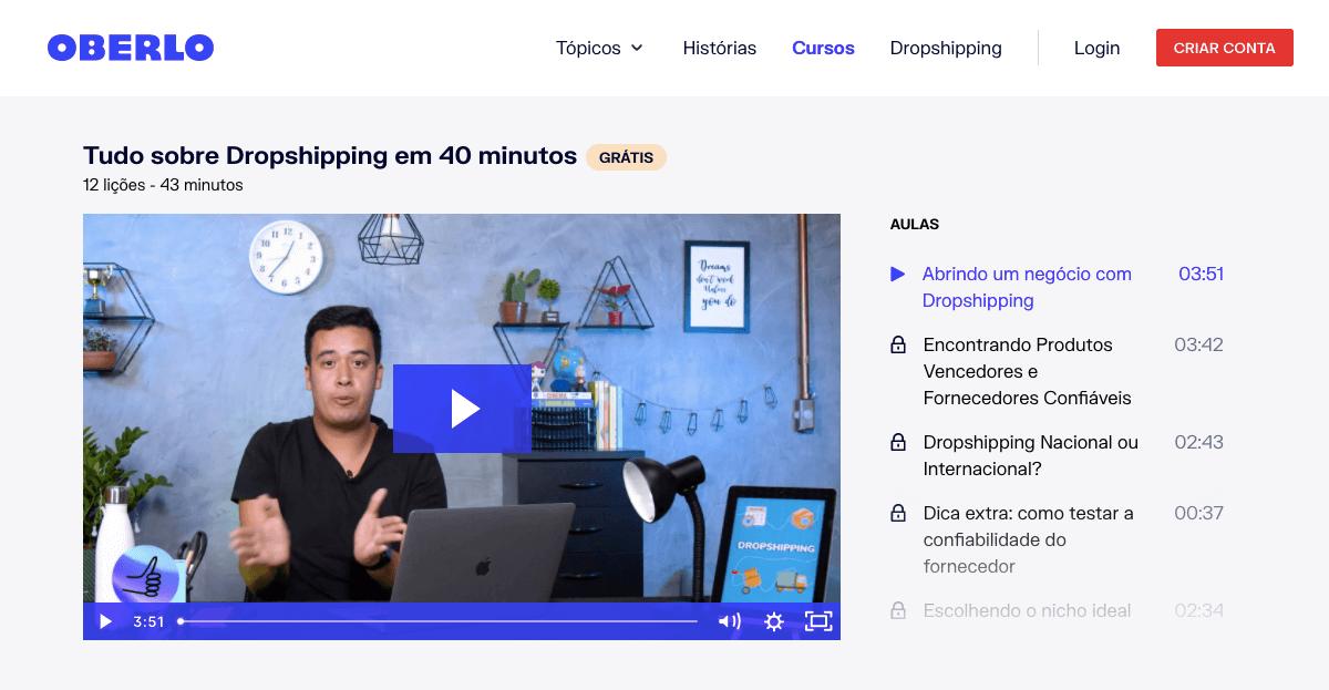 melhores cursos online: dropshipping em 40 minutos