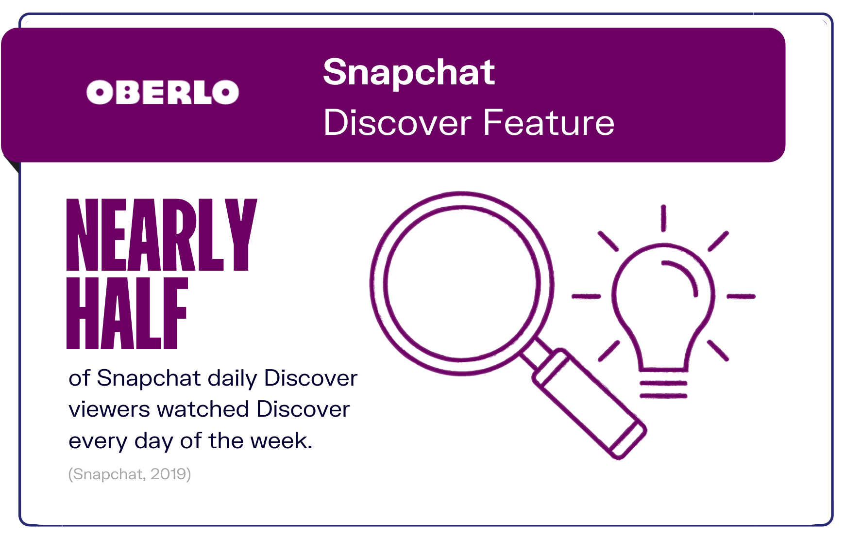 Snapchat Discover Feature graphic