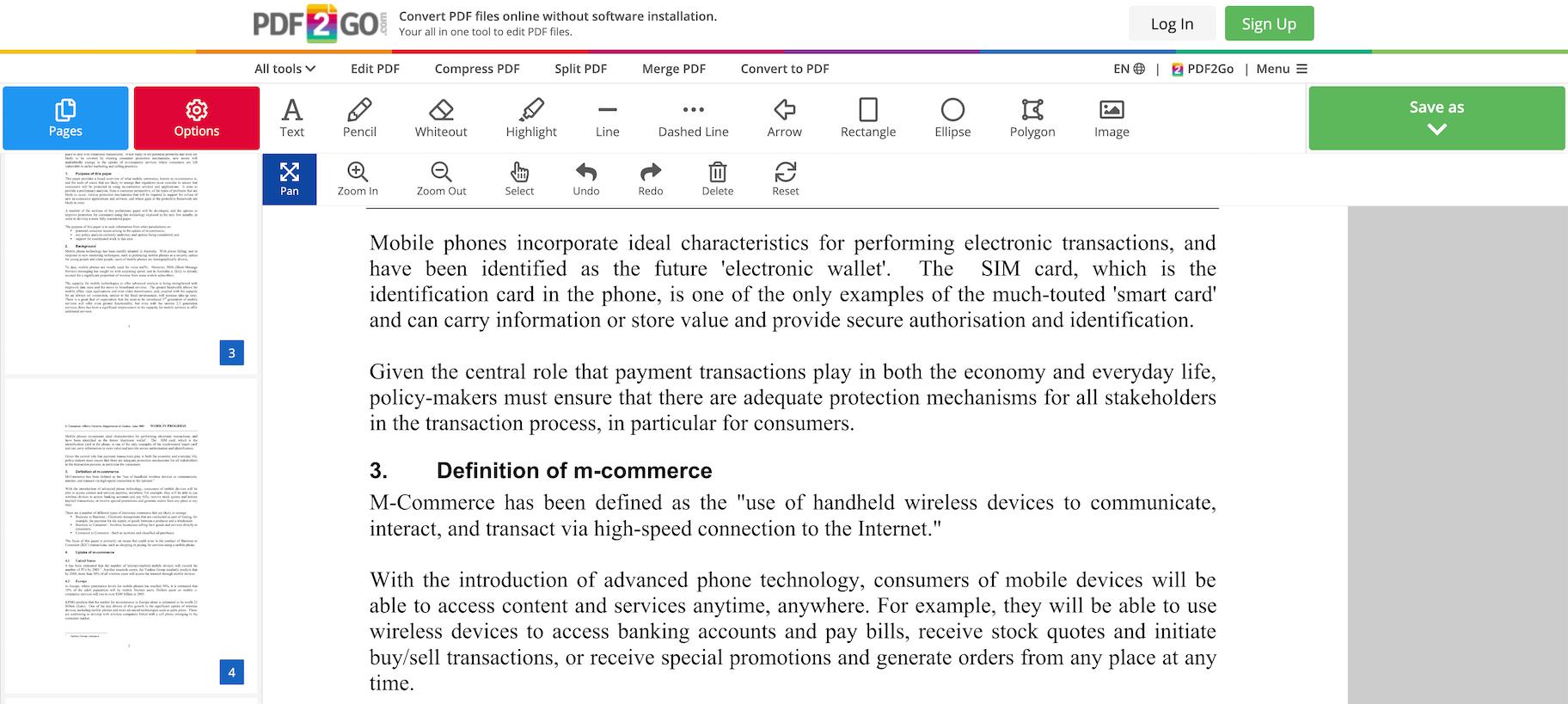 edit portable document format