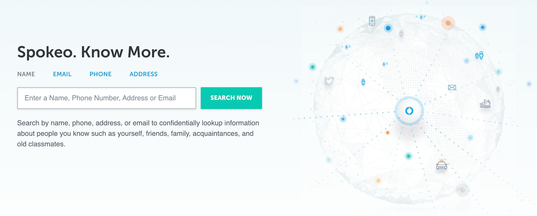 spokeo motori di ricerca social