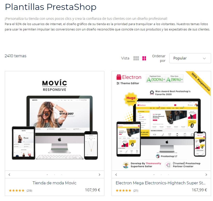 Personalización de Prestashop vs Shopify